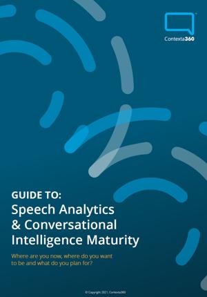speech analytics maturity guide